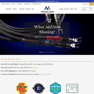 Award Winning - Best Audio Cables - High Resolution - Morrow Audio