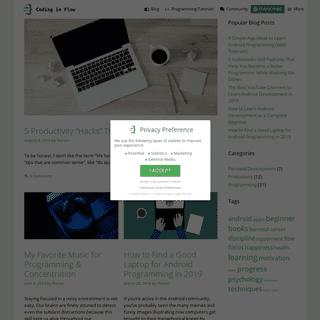 Coding in Flow - Blog