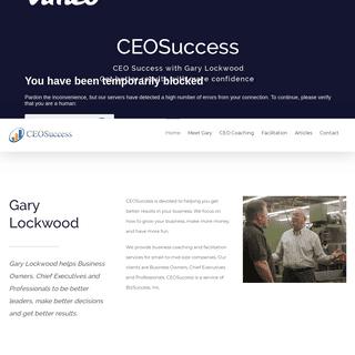 CEO Coaching and Peer-Advisory Groups with Gary Lockwood