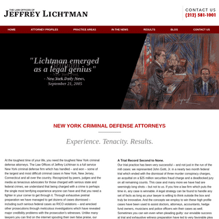 New York Criminal Defense Lawyer - Manhattan, New York DWI Attorney - The Law Offices of Jeffrey Lichtman
