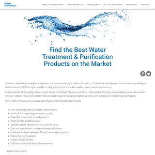 iWaterPurification Makes It Easy To Find The Best Water Quality Products