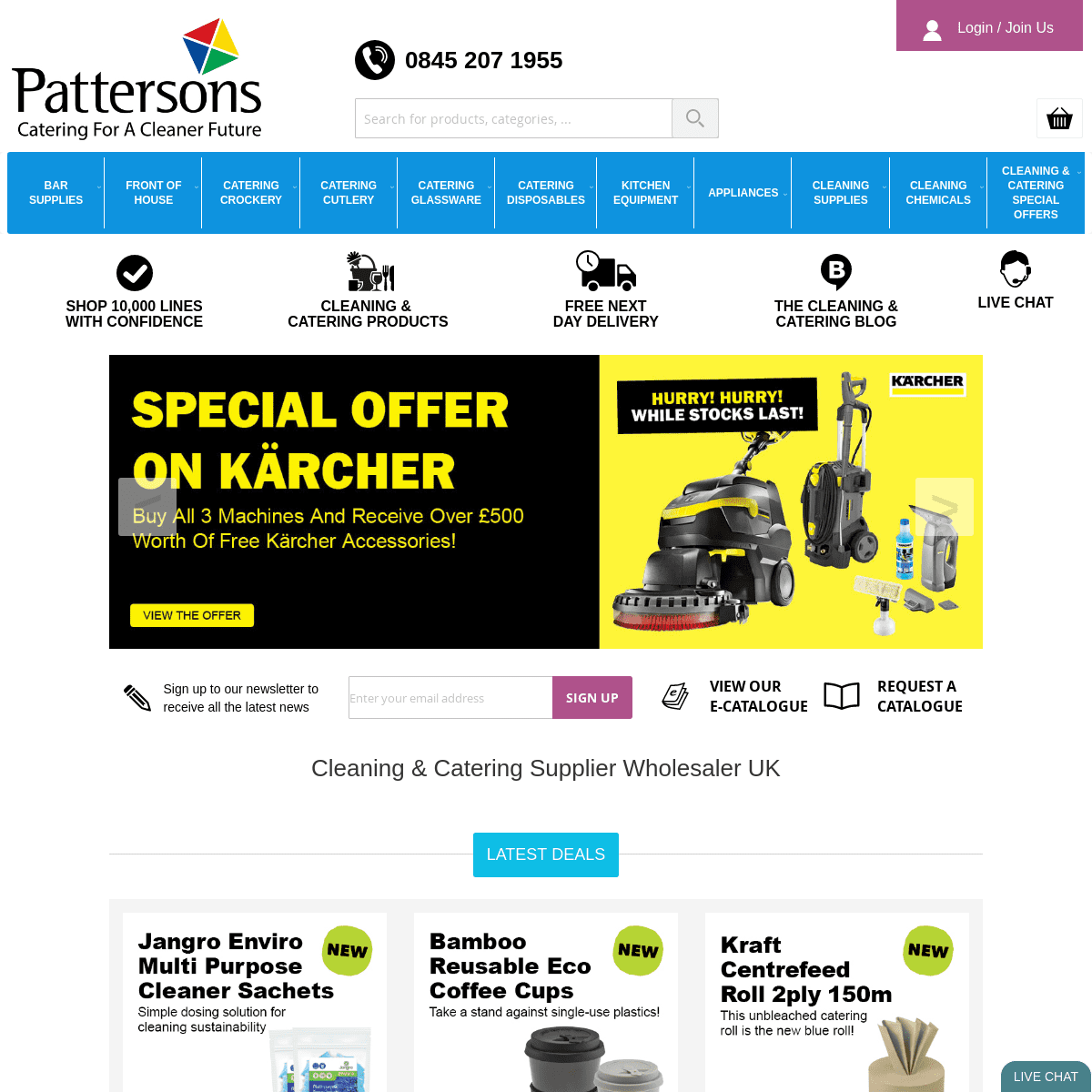 ArchiveBay.com - pattersons.co.uk - Pattersons Cleaning, Bar & Catering Supplies
