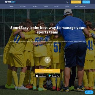 Online sports team management software - SportEasy