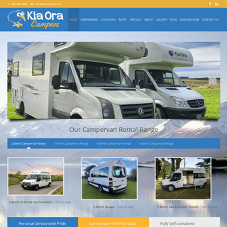 Campervan & Motorhome Hire New Zealand - Kia Ora Campers