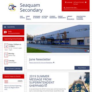 Home - Seaquam Secondary