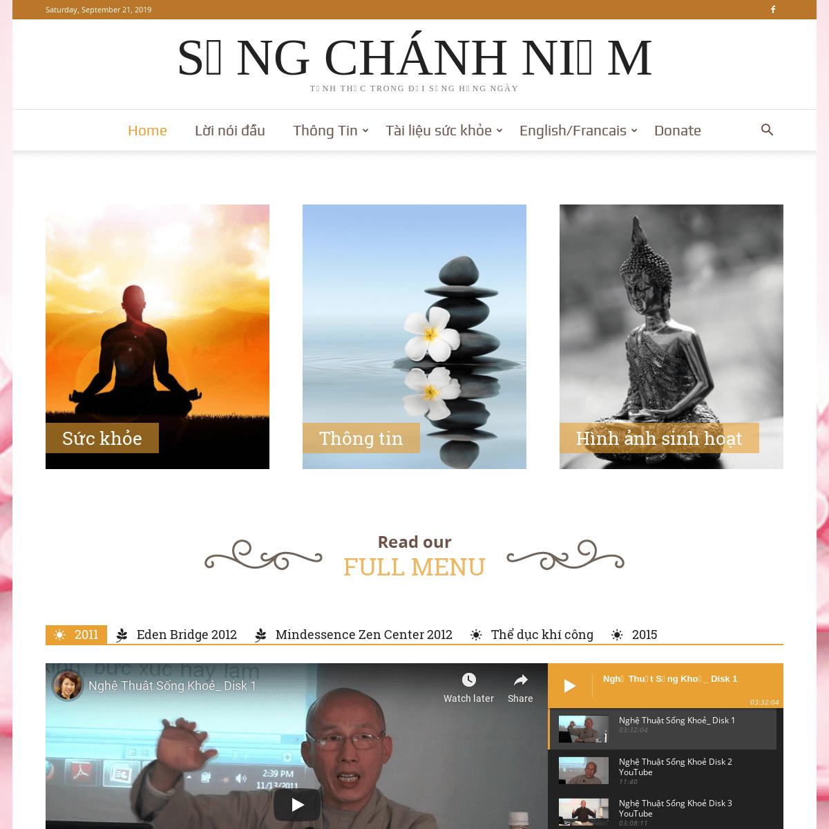 Sống Chánh Niệm - Nam Mô Bổn Sư Thích Ca Mâu Ni Phật