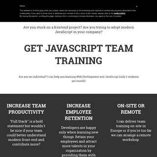 ArchiveBay.com - valentinog.com - Front-end Team Training in Europe (JavaScript, React, Redux, VueJS)