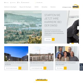 Willkommen - SWSG Stuttgarter Wohnungs- und Städtebaugesellschaft mbH