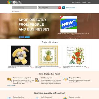 TrueGether - eBay Alternative - Shop Electronics, Automobile, Clothing & More