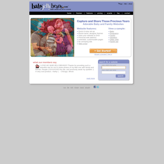 Fun and easy to make your own baby website