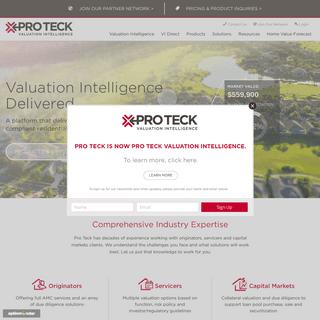 Pro Teck Valuation Intelligence