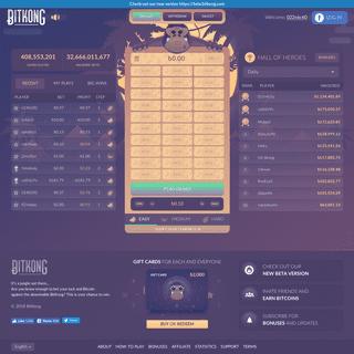 BitKong - Fun & Addictive, provably fair bitcoin game