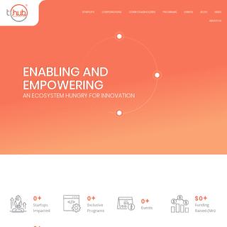 ArchiveBay.com - t-hub.co - T-Hub leads India's pioneering innovation ecosystem