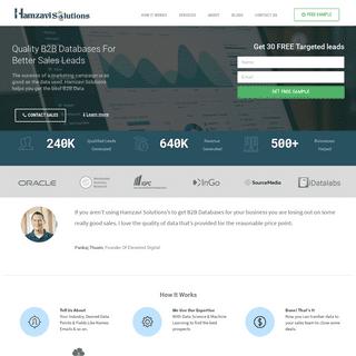 Hamzavi Solutions - B2B Database - Lead Generation - Email List – Research Effectiveness