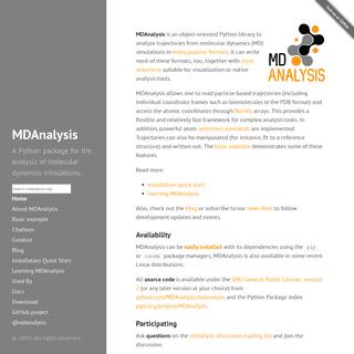 ArchiveBay.com - mdanalysis.org - MDAnalysis · MDAnalysis