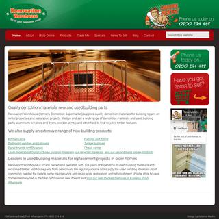Renovation Warehouse Northland's Demolition Materials Specialist