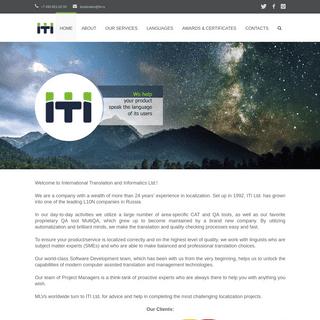 ITI - 26+ years of localization