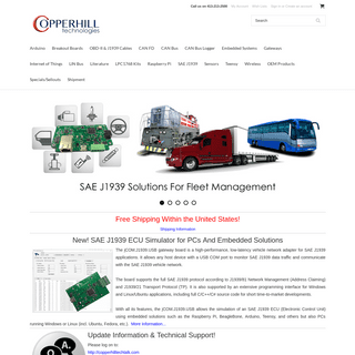 Copperhill Technologies - Automotive, SAE J1939, CAN Bus, Robotics, IoT, Industrial Prototyping