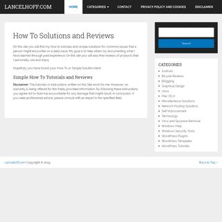 ArchiveBay.com - lancelhoff.com - How To Solutions and Reviews – Lancelhoff.com