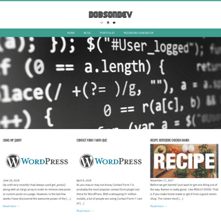 ArchiveBay.com - dobsondev.com - DobsonDev – Coding, Cooking and Other Things…