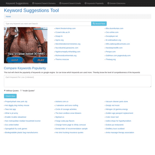 ™ Keyword Suggestions Tool