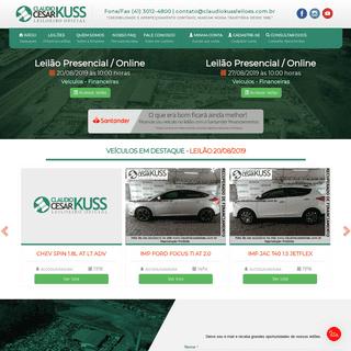 Claudio Kuss Leilões - Leilão de Veículos em Curitiba