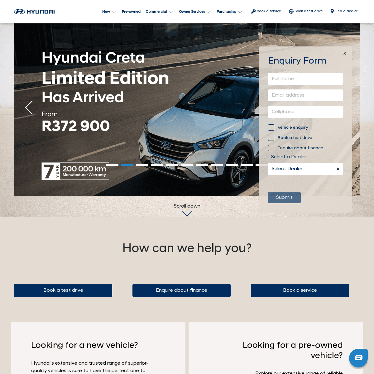 Hyundai South Africa - Quality New & Used Vehicles - 7 Year Warranty
