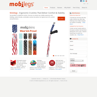Mobilegs Crutches - Mobility at Work
