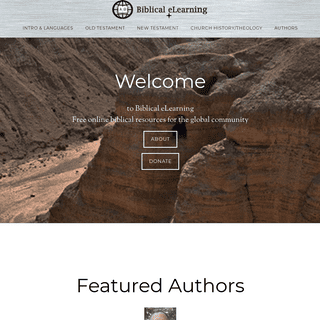 Biblical eLearning - Digital Bible Learning Resources for the Global Christian Community