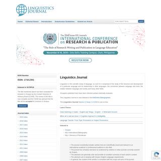 ArchiveBay.com - linguistics-journal.com - Linguistics Journal - The Linguistics Journal - The Linguistics Journal