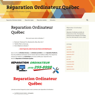 Reparation d Ordinateur Quebec informatique