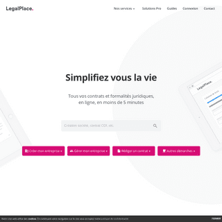 LegalPlace.fr - tous vos contrats et formalités en ligne en quelques minutes