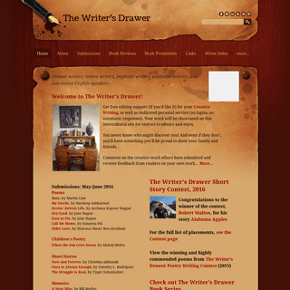 The Writer's Drawer - homepage