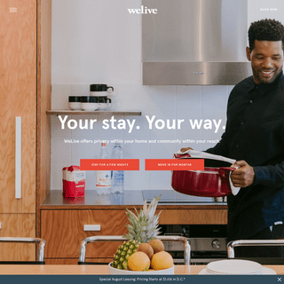 WeLive - Fully Furnished Apartments in NYC & DC