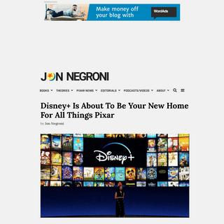 Jon Negroni - Books, Theories, Pixar News