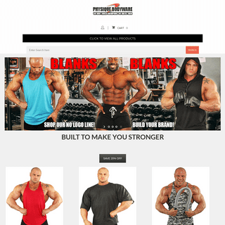 ArchiveBay.com - physiquebodywareusa.com - Bodybuilding Clothes & Mens Workout Clothes & Fitness Wear - Workout Y Back Tank Tops made in America.- Physique Bodyware