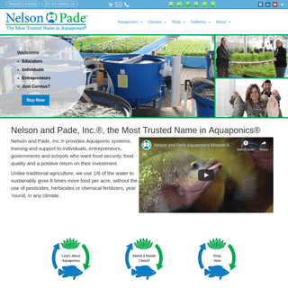 Home • Nelson & Pade Aquaponics