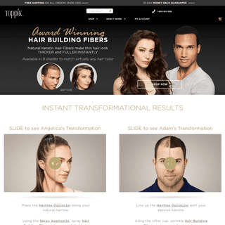 Toppik Hair Building Fibers and Thinning Hair Products