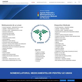 ANMDMR – Agentia Nationala a Medicamentului si a Dispozitivelor Medicale din Romania