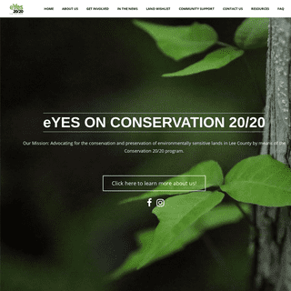 Conservation 2020 - Keep Conserving Lee