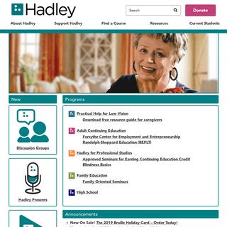 A complete backup of hadley.edu