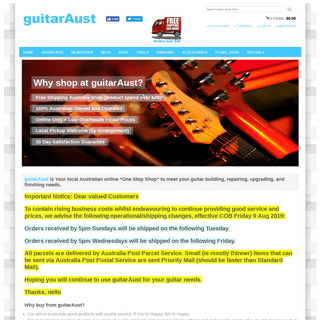 "ArchiveBay.com - guitaraust.com.au - guitarAust - Your online ""One Stop Shop"" to meet your guitar building, repairing, upgrading, and finishing needs."