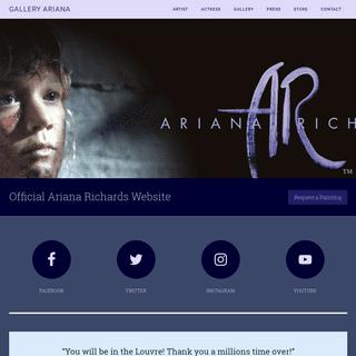 Gallery Ariana, Ariana Richards official Portrait Artist website. Jurassic Park — Official Ariana Richards Website