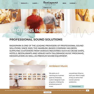 Radiopark - Emotions in Music- Professional sound solutions