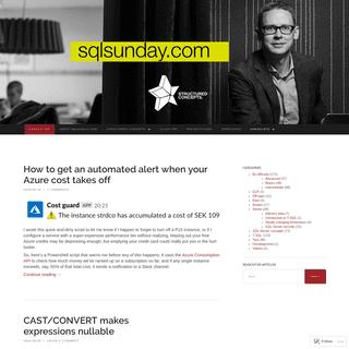 sqlsunday.com - T-SQL programming, useful tips and tutorials for the MS SQL Server developer.