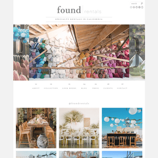 Found Rentals - Rent Specialty Furniture in California for Weddings, Events, Parties, Photo Shoots