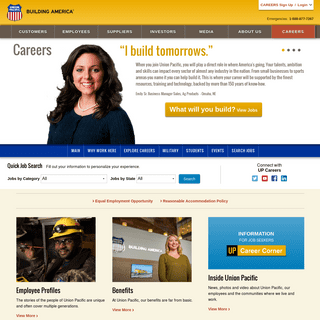 Welcome to Union Pacific Careers