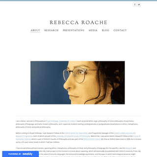 REBECCA ROACHE - About