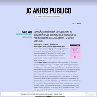 JC Anjos Publico - O blog para quem não procura entretenimento.