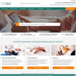 121doc Online Clinic - Free Next Day Delivery in UK